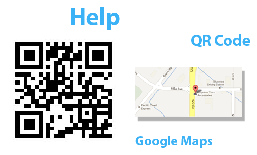 qr code to location page